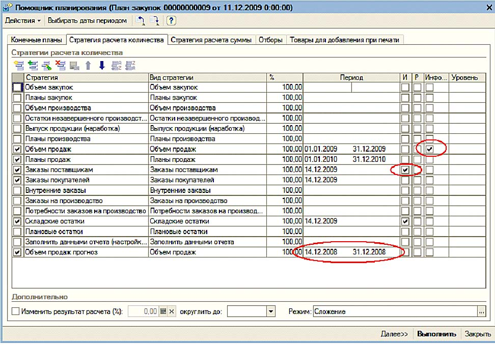 Программу для планирования закупок